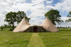 Two Giant Tipis are perfect for small parties and can accommodate up to 120 seated guests and 150 standing. With our Extension Kit, you can add 28% extra space to your tipi party, which can be used for extra seating, a bar or a stage area.   For more information and see lay-out examples, visit our website  #Tipi #GiantTipi #GiantTipis #NordicTipis #NordicTipi #OutdoorsWedding #TipiWedding Tipi Wedding, Extra Seating, Be Perfect, Outdoor Gear, Stage, Parties, Layout, Kit, Website