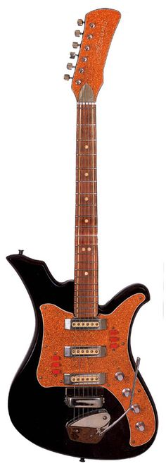 Aelita, a Russian electric guitar. Claim to fame: not quite as ugly as a Tonika (see above).