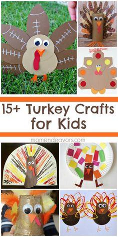 15+ Adorable Turkey Crafts for Kids! - Mom Endeavors