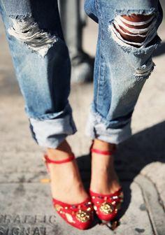 Grafika przez We Heart It #fashion #shoes #streetstyle #stylish #trippeddenim