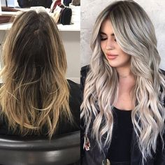 Before & After 💥 | by @hairby_chrissy Dark Roots Blonde Hair, Blonde Hair Looks, Balayage Hair Blonde, Mushroom Hair, Wedding Hair Colors, Plaits Hairstyles, Hair Color Highlights, Hair Inspiration, Hair Cuts