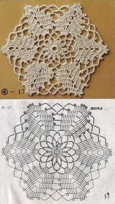 Transcendent Crochet a Solid Granny Square Ideas. Inconceivable Crochet a Solid Granny Square Ideas. Crochet Doily Patterns, Granny Square Crochet Pattern, Crochet Blocks, Crochet Mandala, Crochet Diagram, Crochet Chart, Crochet Squares, Thread Crochet, Crochet Designs