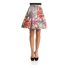 Stella Jean Flared Skirt ($528) ❤ liked on Polyvore featuring skirts, multi, white circle skirt, white skirt, colorful skirts, multi colored skirt and multi color skirt