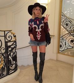 Lena Perminova wearing Chanel