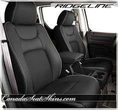 Honda Ridgeline Leather Kit - Charcoal Leather with Perforated Inserts - Heat or Cool Your Seats - canadaseatskins.com #leather