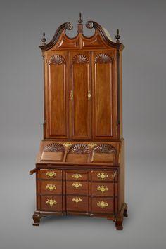 c1790 desk, Townsend, Providence, RI, for J Brown, 107t,45.  Yale Univ Art Gallery.