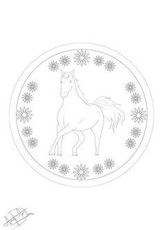 Mandala Pferd Blumen
