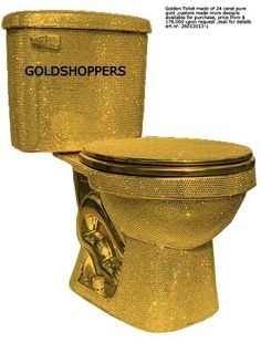 Golden Toilet made of 24 carat pure gold ,custom made more designs available for purchase, price from $178,000 upon request ,mail for details art.nr. 26012013-1