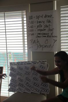 Make up your own version of Jeopardy for a classy bachelorette party activity!  Have guests answer questions about the bride and have the bride answer questions about the groom!