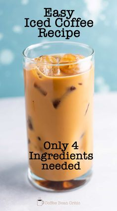 This simple iced coffee is easy to make at home with no fancy equipment required. Ice coffee is refreshing and perfect pick-me up when needed! Caramel Coffee Recipe, Iced Caramel Coffee, Homemade Iced Coffee, Iced Coffee At Home, Best Iced Coffee, Coffee Art, Coffee Drink Recipes, Starbucks Recipes, Mocha Iced Coffee Starbucks Recipe