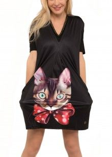 Culito from Spain černé oversize šaty Pretty Kitty - 1690 Kč f640d64727