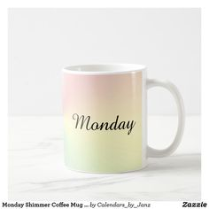 Shop February Rainbow Shimmer Coffee Mug by Janz created by Calendars_by_Janz.
