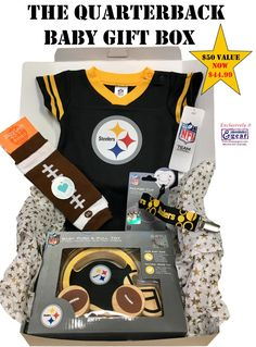 The perfect gift for your future Steelers quarterback! Gift box includes  Official NFL Licensed Steelers 53a92b47a