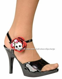 Shoe clips! I suppose they could be clipped anywhere.