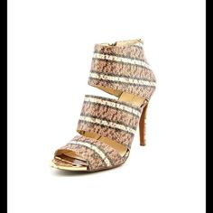 """JESSICA SIMPSON HEELS Sexy multi-colored snake print heels. The go to sandal for dinner or just a night out. Heel about 4"""". Brand new. Size 10. Jessica Simpson Shoes Heels"""