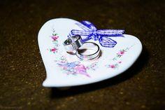 podložka na obrúčky - srdce / plate for wedding rings - heart