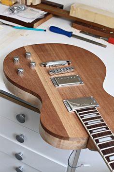 Homemade guitar - fun for kids