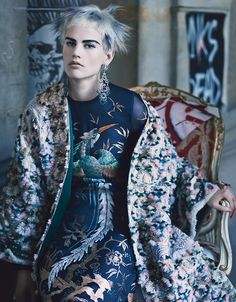 wmagazine:  Couture Clash Photograph by Craig McDean; styled by Edward Enninful; W magazine October 2013.