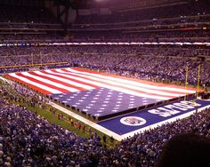 Pre-game show is always great at Lucas Oil...the jets over the stadium during the National Anthem is amazing.