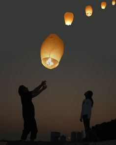 buy cheap floating lanterns to make the night romantic!  Great even for remembrance...