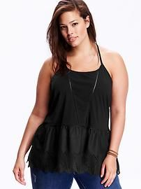 Women's Plus Eyelet-Trim Cami Top