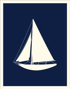 Buy your Sailing Sailboat Art Print here. Complete your room with this modern art print. Art print is professionally produced on textured cardstock. Style Nautique, Sailboat Art, Sailboats, Nautical Home, Nautical Design, Nautical Nursery, Pause, Coastal Living, Vintage Posters