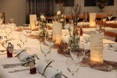 Tischdekoration Familienfest 70 geburtstag Tischdeko 1
