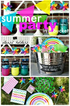 gift idea: summer party in a bucket