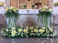 162 Mejores Imágenes De Arreglos Florales Para Iglesia En