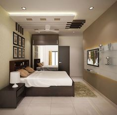 Browse images of modern Bedroom designs_ 4 bedroom apartment at SJR Watermark. Find the best photos for ideas & inspiration to create your perfect home. House Ceiling Design, Ceiling Design Living Room, Bedroom False Ceiling Design, False Ceiling Living Room, Bedroom Ceiling, Fall Ceiling Designs Bedroom, False Ceiling Ideas, Modern Ceiling Design, Bedroom Designs Images