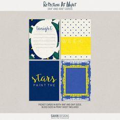 Free Reflections At Night Pocket Cards from Sahin Designs