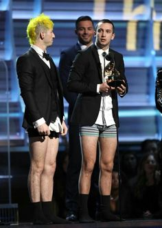 Getting a grammy w/o pants = even more awesome than they were already