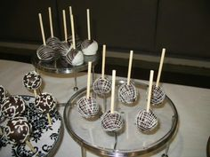 Cake pops my husband and I made for our work luncheon dessert contest and we won 1st place.