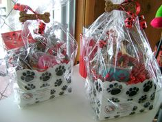 Welcome Home  New Pet Basket Gourmet Dog Treats by Woofables