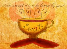 How sweet it is to be loved by you....coffee that is. What my #Coffee says to me August 7 http://www.youtube.com/watch?v=gQIrwprU1SY