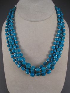 Five-Strand Sleeping Beauty Turquoise Necklace by Navajo jewelry artist, Desiree Yellowhorse $1,665-