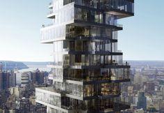 "The ""Jenga Building"" (56 Leonard), New York, Herzog & de Meuron"
