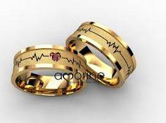 Resultado de imagem para alianças casamento batimentos cardiacos