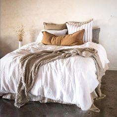 Luxurious European Linen Bedding & Linen Sheets - Hale Mercantile Co. Bedding Master Bedroom, Home Bedroom, Bedroom Decor, Bedrooms, Bedding Sets, Linen Bedding, Linen Sheets, Bed Linens, Bed Sheets