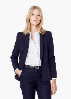 Basic-blazer aus baumwoll-mix - Officewear für Damen | MANGO