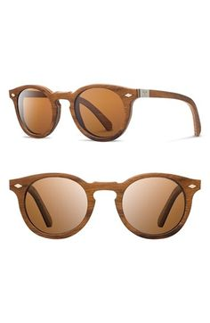 Shwood 'Florence' 49mm Polarized Wood Sunglasses available at #Nordstrom
