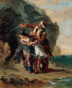 Selim et Zuleika, par Eugène Delacroix