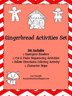 Gingerbread Activities Set with Emergent Readers and Sequencing product from Teacher-Lisas-Shop on TeachersNotebook.com
