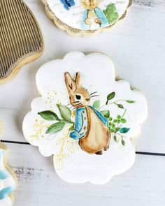 Best Sugar Cookies, Baby Cookies, Baby Shower Cookies, Cut Out Cookies, Easter Cookies, Peter Rabbit Birthday, Peter Rabbit Party, Bunny Party, Spring Party