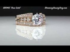 http://www.BloomingBeautyRing.com #RoseGold #SplitShank Diamond Engagement Ring Item #BBR1165