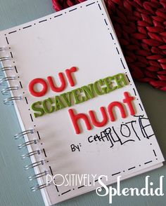 Neighborhood photo scavenger hunt with free printables to make the journal.  Would be so fun to do with the boys over spring break!