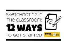 Sketchnoting is an engaging, brain-friendly way for your students to capture their thinking. Here are 12 ways to get started using sketchnotes in your classroom. Sketch Quotes, Visual Note Taking, Grant Writing, Student Drawing, Little Library, Proposal Writing, Instructional Coaching, Middle School Teachers, Christian School