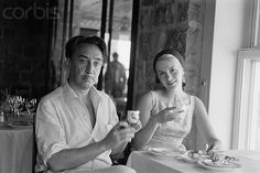 Roquebrune, France --- French Writer Romain Gary and His Wife Jean Seberg --- Image by © Sygma/Corbis Jean Seberg, Iowa, New Wave Cinema, Romain Gary, French New Wave, St Joan, Jean Luc Godard, White Dogs, Beautiful Couple