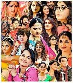 from - Excellent Collage . Indian Actress Images, Indian Actresses, Anushka Shetty Saree, Prabhas And Anushka, Bahubali 2, Anushka Photos, Super Movie, Indian Star, Actress Anushka