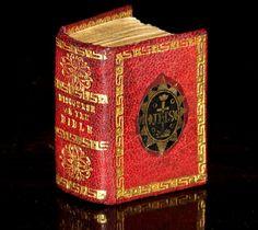"1780 MINIATURE Newbery 1.5"" THUMB Holy Bible ANTIQUE English FINE BINDING Mini"